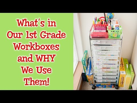 Homeschool 1st Grade Curriculum Choices - What's in Our Workboxes!