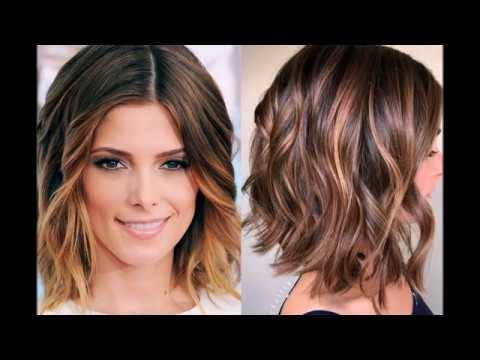 Окрашивание балаяж на короткие волосы модное в 2018
