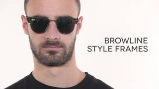 Ray Ban RB3016 Clubmaster Flash Lenses 114519 Sunglasses Review | SmartBuyGlasses