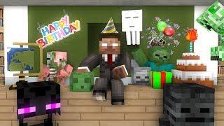 Monster School : HAPPY BIRTHDAY HEROBRINE  - Minecraft Animation