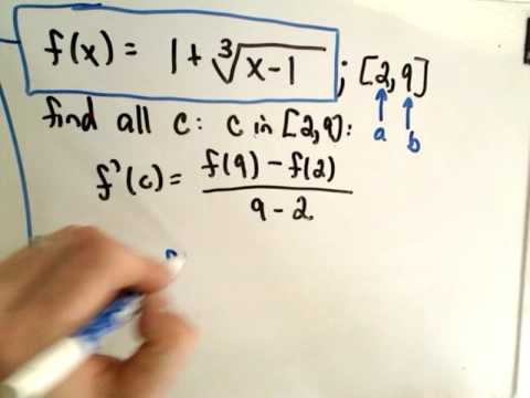❖ The Mean Value Theorem ❖
