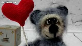 Амигуруми: схема Мишки Валентина. Игрушки вязаные крючком - Free crochet patterns.