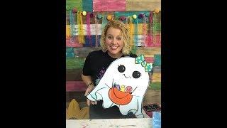 Painting a Cute Ghost Door Hanger with Tamara Bennett