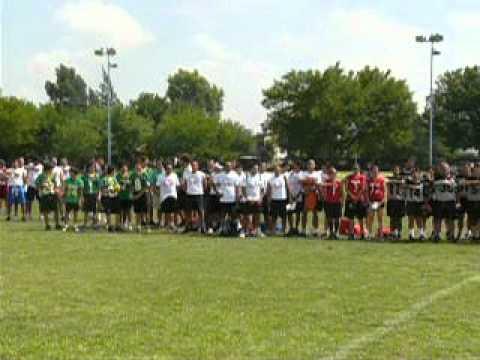 Flag Football Tournament Monterrey Mexico-National Anthem