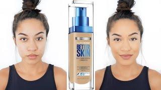 Better Skin?! Maybelline Superstay Better Skin Foundation| FULL Review + DEMO