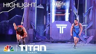 Track Star vs. Firefighter on Uprising - Titan Games 2019
