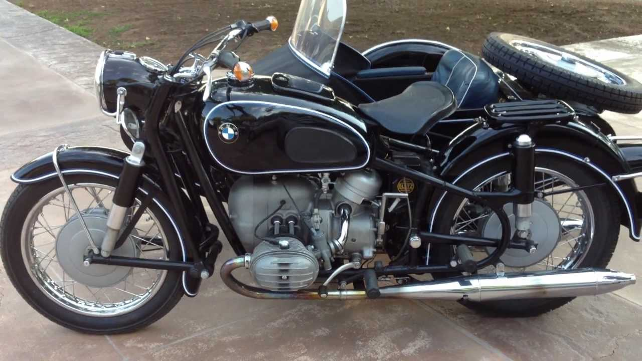 1965 bmw r60 with side car for sale - youtube