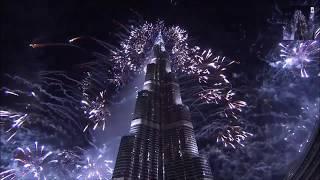 New Years Fireworks Dubai, Burj Khalifa