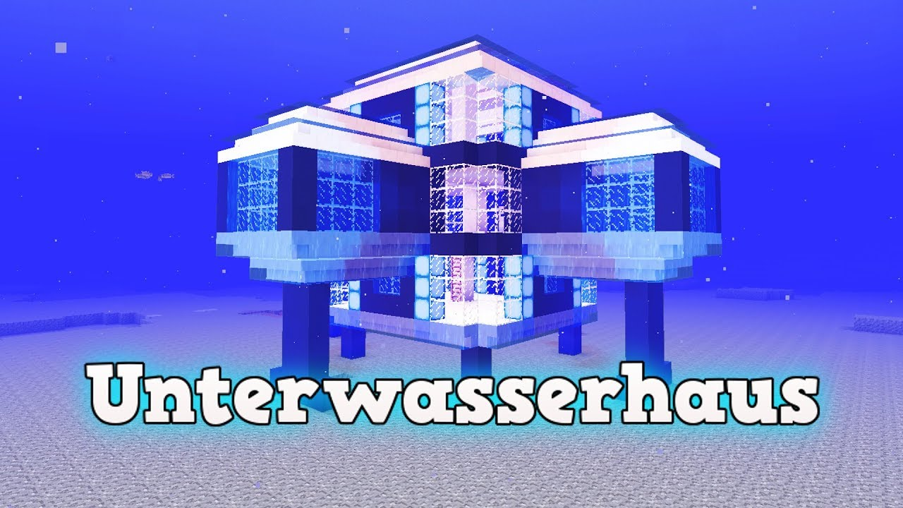 wie baut man ein unterwasserhaus in minecraft minecraft. Black Bedroom Furniture Sets. Home Design Ideas
