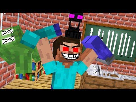 Monster School : HEROBRINE BECAME EVIL - RIP ZOMBIE, SKELETON AND PIGMAN - Minecraft Animation
