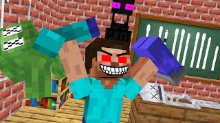 Monster School : HEROBRINE BECAME EVIL - RIP ZOMBIE, SKELETON AND PIGMAN - Minecraft Animation