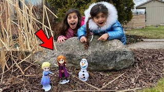 Deema surprises Sally with Frozen 2 Elsa, and Anna Figures
