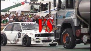BMW vs Truck Turbo Iveco Crazy Drift Battle