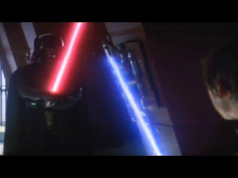 Complete Luke vs Vader fight with Duel of the Fates