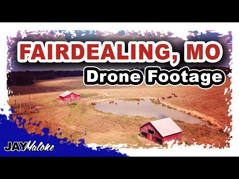 Drone Footage- Flying Drone Around Barns!