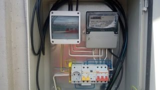 ⚡  380 вольт!... Монтаж провода СИП, монтаж в щитке. ⚡