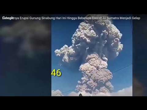 Sinabung volcano explodes