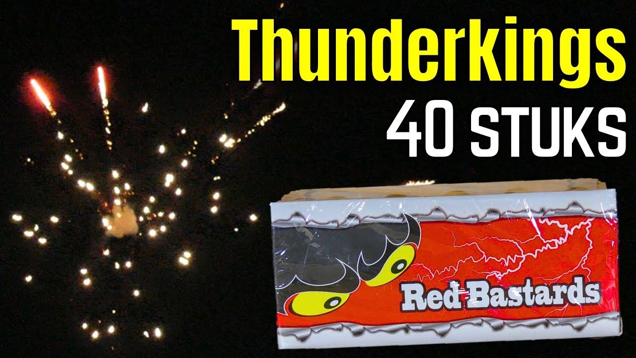 Red Bastards 40 st | Thunderkings | China Red Vuurwerk