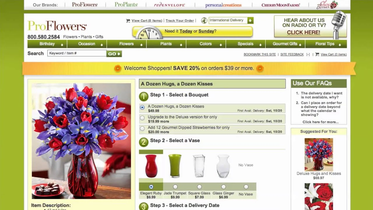 These ads feature promo codes you can enter to unlock exclusive offers at o79yv71net.ml 3. Check out the ProFlowers coupon collection. ProFlowers showcases an ever-changing collection of digital coupons online. Check out their current coupons to score discounts on orders, featured arrangements, and shipping. 4. Keep an eye on the Deals of the.