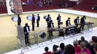 The pride of Morehead indoor Drumline competition at North