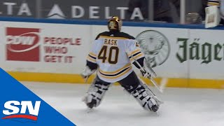 Tuukka Rask Forgets Game Is Tied, Leaves Net For Extra Attacker