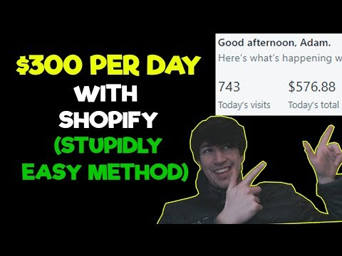 EASY WAY TO MAKE $300/DAY WITH SHOPIFY DROPSHIPPING 2017