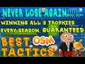 OSM Best Tactics! - 2017 (NEW, WIN every single game and TROPHY!!!) Tutorial