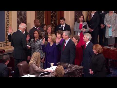 Maggie Hassan Sworn-In as New Hampshire's Newest Senator by Vice President Joe Biden