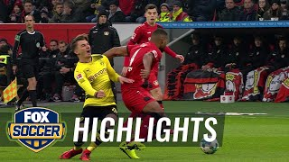Bayer Leverkusen vs Borussia Dortmund  2017-18 Bundesliga Highlights