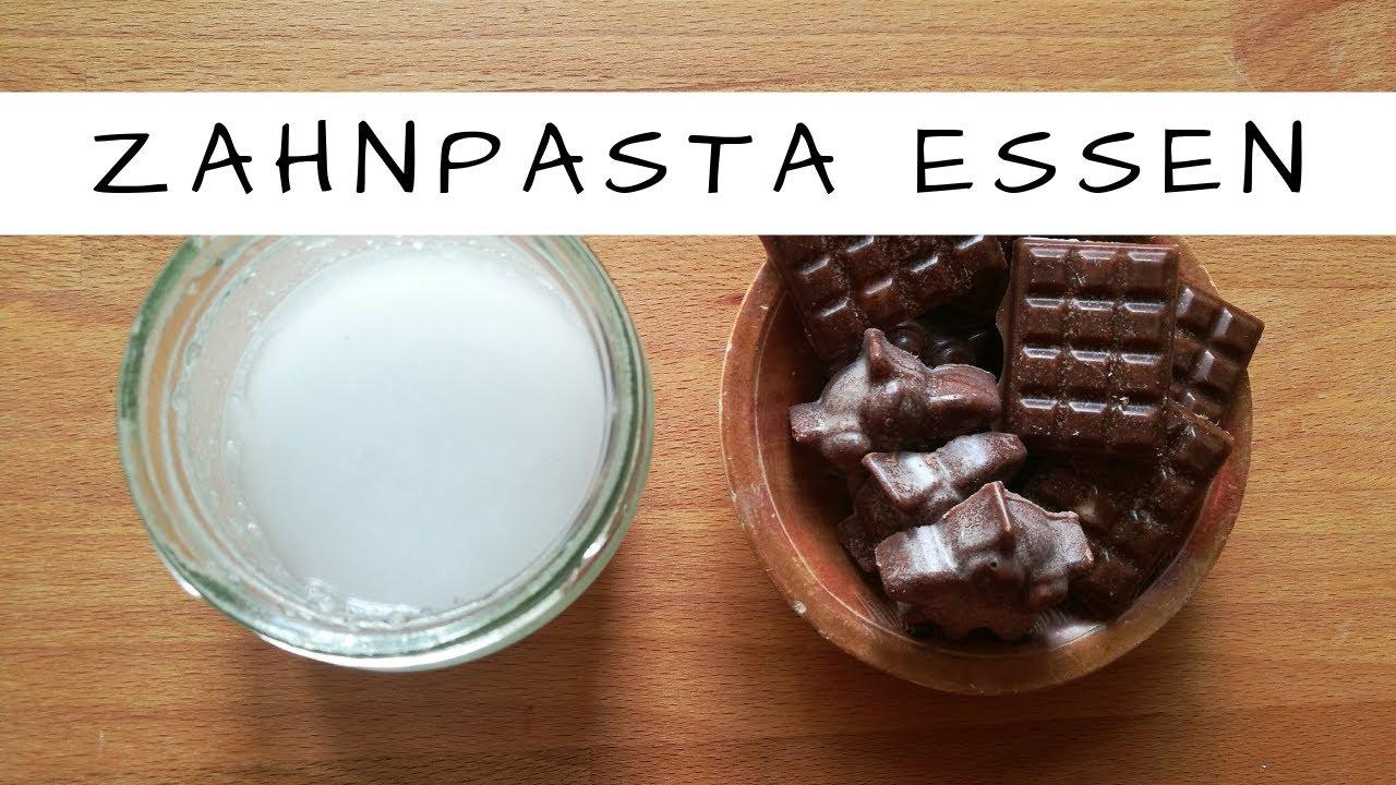 Wir können unsere Zahnpasta essen! Schokolade aus Zahnpasta!