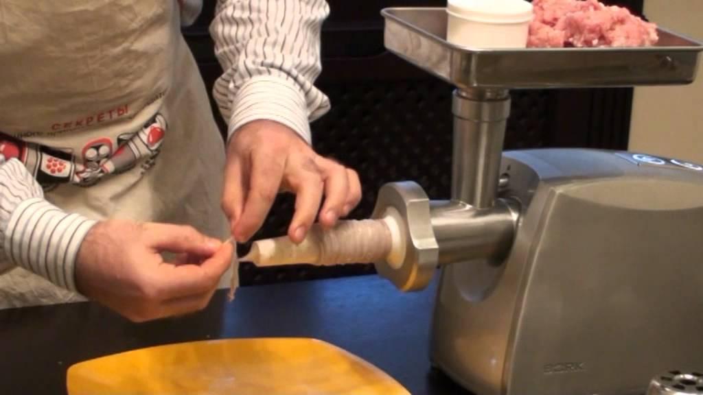как приготовить колбасу на мясорубке