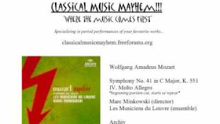 Mozart - Symphony No. 41 in C Major, (