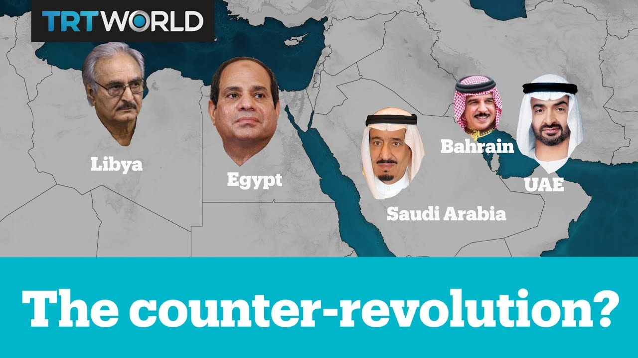 YouTube The Counterrevolution? Watch (3:35) Uploaded by: TRT World,Jun 8, 2017 47.32KViews·1.12KLikes·0Comments We question the nature of the pan-Arab sanctions imposed on Qatar by examining the Gulf's policies in Egypt, Libya, Yemen, Bahrain and Tunisia. Subscribe: ht... Images may be subject to copyright. Find out more