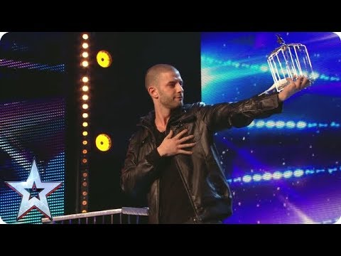 Darcy Oake pulls a birdcage from NOWHERE | Britain's Got Talent Unforgettable Audition