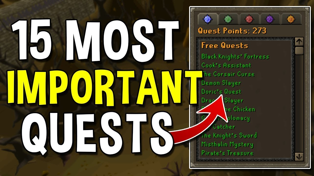 Download The 15 Most Important Quests to Complete on a New Account! Quests for Early Game Accounts! [OSRS]