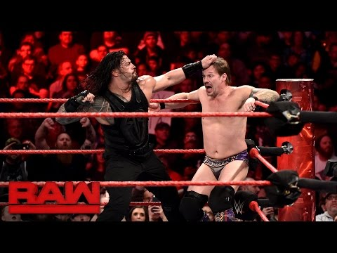 Roman Reigns vs. Chris Jericho - United States Championship Match: Raw, Jan. 23, 2017