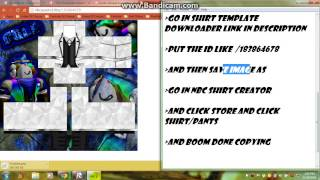 How To Copy and make a shirt NBC Roblox [HD]