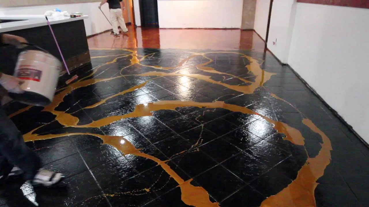 Designer metallic epoxy installation on ceramic tile youtube dailygadgetfo Gallery