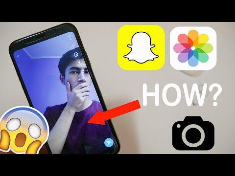 How To Send Snaps From Camera Roll (iOS & Android)