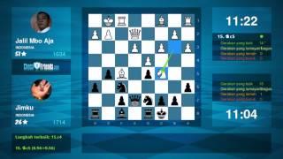 Chess Game Analysis: Jalil Mbo Aja - Jimku : 0-1 (By ChessFriends.com)(Video ini dihasilkan dari aplikasi mobile ChessFriends.com. **** Apakah anda menyukai videonya? Anda juga dapat membuat video seperti ini! Silahkan install ..., 2016-08-27T19:10:12.000Z)