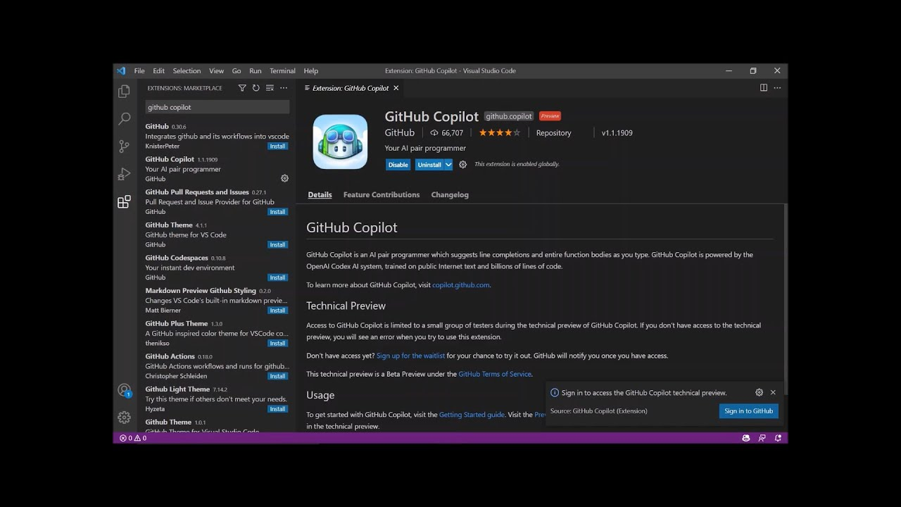 How to install and activate Github Copilot extention on VS Code   VS Code    GitHub Copilot