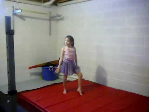 9yr old home gymnastics routine