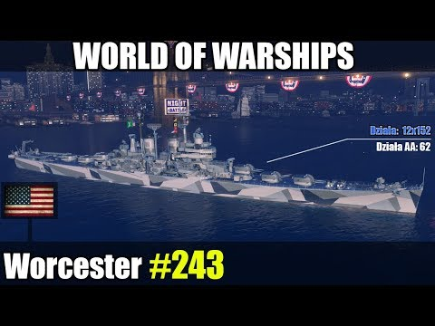 Worcester - World of Warships - Omówienie i gameplay.