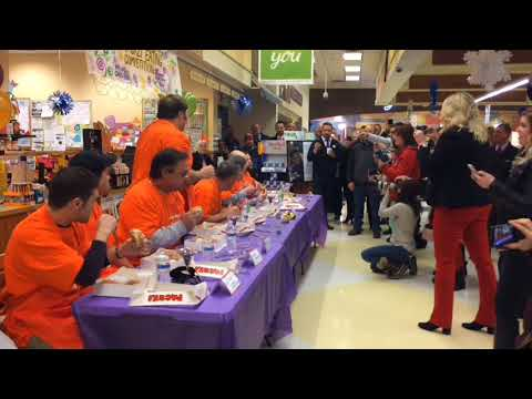 Davison grocery store celebrated Fat Tuesday with Paczki eating competitio