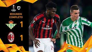Betis 1-1 Milan - GOLES Y RESUMEN - Grupo F - UEFA Europa League