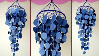WOW !! Easy & Simple Wall Hanging Idea || Best Out of Waste Old Jeans Jhumar