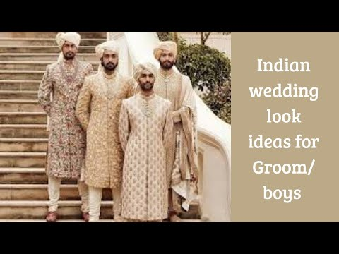 Indian wedding dresses for Groom/Mens latest Ethnic look sherwani/Indo Western dress ideas