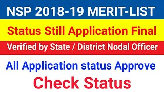 National Scholarship Merit Application Final Verified by State/Dist...
