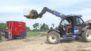 Wóz paszowy Nowej generacji z obsługą z telefonu w Gospodaarstwie Pana Stefana Prokopa