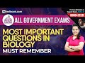 Most Important Questions Biology 2018 | Human Body GK for SSC CGL, RRB, Banking Exams